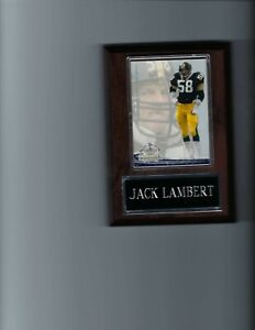 JACK LAMBERT PLAQUE PITTSBURGH STEELERS FOOTBALL NFL   C3