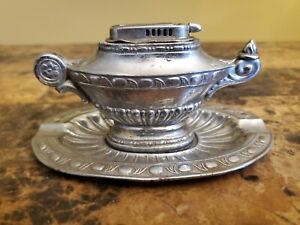VINTAGE GENIE LAMP TABLE LIGHTER AND CIGARETTE ASH TRAY MADE OCCUPIED JAPAN