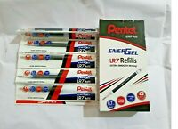20 PENTEL Refill for ENERGEL ROLLER GEL PEN LR7 BLACK | 0.7mm | Smooth Writing
