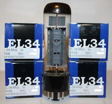 Factory Platinum Matched Quad of Mullard EL34 Reissue tubes, Brand NEW in Box !