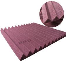 "12 PCS Acoustic Foam Wave Studio Sound Proof Foam in Burgundy 12"" X 12"" X 1"""