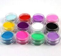 Conjunto De 12 Frascos De Diferente Colores De Polvo Acrilico De Uñas Manicura
