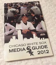 2012 Chicago White Sox MLB Baseball Media GUIDE