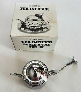 Teapot Shaped Chrome Tea Infuser - Estate - age unknown