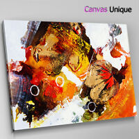 AB1380 orange black modern Abstract Wall Art Picture Large Canvas Print