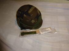 US ARMY HELMET MEDIUM 1983 WOODLAND PASGT BODY ARMOR DESERT STORM FLAG BDU VEST