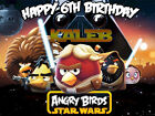 STAR WARS Edible CAKE Image Icing Topper Photo Frosting Sheet Angry Birds