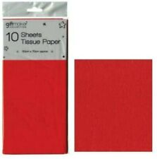 Pack of 10 Sheets Tissue Paper - Red
