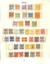 [OP4247] Samoa lot of stamps on 4 pages