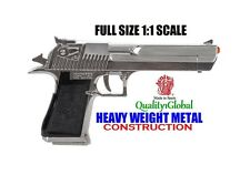 MIRROR CHROME METAL REPLICA 50 CAL DESERT EAGLE MOVIE PROP Pistol Gun Training