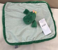 Marks and Spencer M & S Dinosaur Baby Comforter Soft Hug Toy Green