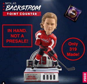 Nicklas Backstrom Capitals Point Counter Bobblehead Limited Ed 319 NIB IN HAND!