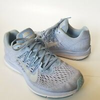 Nike Air Zoom Winflo 5 Athletic Running Shoes Women's Size 9.5 Silver Blue
