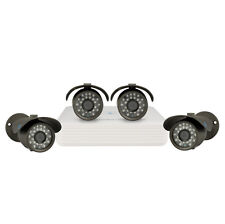 "LineMak 4 Camera kit, 1/3"" Sony CCD Sensor, 700TVL, OSD with 4Ch DVR, H.264, D1."