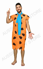Adult Fred Flintstone Costume Caveman Book week halloween Jungleman Barney Stone