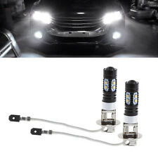 2X 2323 50W DC 12V H3 10 SMD LED Car Fog Light Bulb Lamp Xenon White