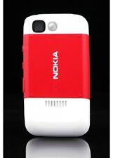 ORIGINALE Nokia 5200 COVER POSTERIORE RETRO Battery e-COVER REAR HOUSING RED NUOVO