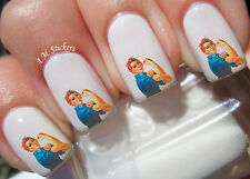 Rosie The Riveter Nail Art Stickers Transfers Decals Set of 20