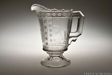 c. 1882 No. 50 Sphynx Aka Egyptian by Adams & Co Colorless Large Cream Pitcher