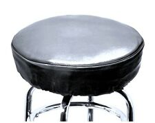 Bar Stool Slip On Cover With Foam Padded made of high quality vinyl BLACK