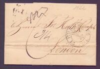 Vorphilabrief Bremen 1822 mit großem Schlüsselstempel nach London (983)