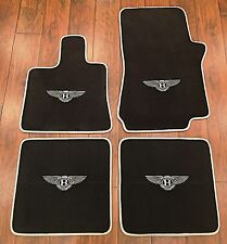 BENTLEY ARNAGE CUSTOM CAR FLOOR MATS 99-08 BLACK W/ SILVER WINGS HIGH QUALITY