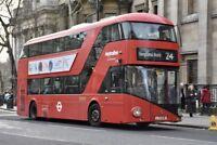 LT38 LTZ 1038 METROLINE NEW ROUTEMASTER 30TH DEC 2017 6x4 London Bus Photo B