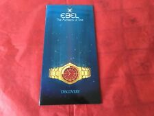Ebel Watch Catalogue Discovery Watches