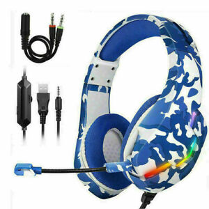 Gamer Mic Gaming Headset Stereo Bass Surround Headphone For PS4/Xbox One/PC