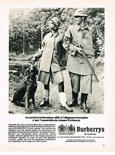 PUBLICITE ADVERTISING 024   1964    BURBERRYS OF LONDON     ensemble de chasse