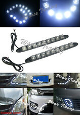 2x Waterproof Flexible 9 SMD LED DRL Daytime Running Light Fog Lamp White Color