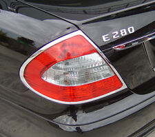 MERCEDES BENZ E CLASS 4 DOOR SALOON W211 NEW CHROME REAR LIGHT TRIMS 2002 - 2009