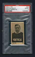 PSA 2 GANTON SCOTT 1924 Maple Crispette Hockey Card #29