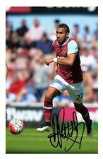 DIMITRI PAYET - WEST HAM UNITED AUTOGRAPHED SIGNED A4 PP POSTER PHOTO 1