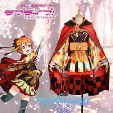 Love Live Hoshizora Rin Awakening Cosplay Costume Taisho kimono &cape Any Size