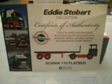 Eddie Stobart Scania 110 Flatbed Trailer Diecast Model 1.76 Scale