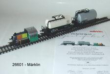 Märklin 26601 H0 Confezione Treni Köf 1 con 2 Vagone Cisterna il Dsb # Nuovo in