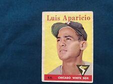 1958 Topps Luis Aparicio Chicago White Sox #85A Baseball Card