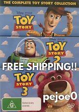 Toy Story 1,2,3 DVD Disney Pixar Reg 4 FREE POST! New! Sealed!