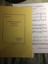 Henri Tomasi Divertimento Corsica pour trio d'anches orchestre partition Leduc
