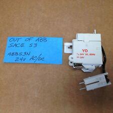ABB  SHUNT TRIP YO ~24V AC 50-60HZ 24V DC OUT OF SACE 3 S3 ABBS3N