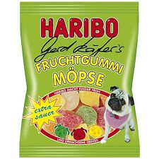 Made in Germany-Haribo PUG -Extra Sour- gummy bears- 200g-FREE Shipping