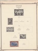 salvador stamps page ref 17190