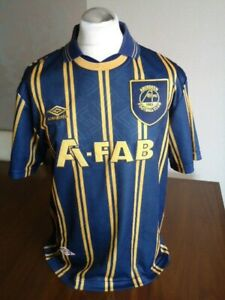 ABERDEEN Original 1993 UMBRO Away Shirt LARGE Adults EXCELLENT Cond Rare Vintage