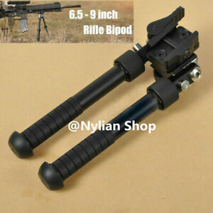 6.5- 9 inch Rifle Bipod with Quick Release 20mm Picatinny Rail QD Mount Hunting