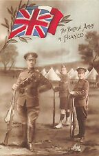 POSTCARD  MILITARY   WWI  PATRIOTIC   The  British  Army  in  France