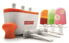 Zoku Original Trio Quick Pop Ice Lolly Maker Easy Fun Summer Frozen Ice Lollies