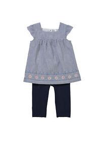 BNWT, Tunic & Legging set, 2 Piece, Blue, White, Baby, Size 0, 9 to 12 Months