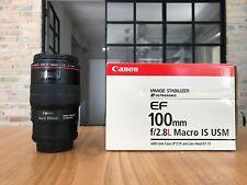 Canon EF 100mm F/2.8L Macro IS USM Obiettivo - Nero (3554B005)