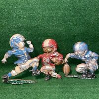 Vintage 1976 HOMCO Football Players Metal Diecast Wall Plaque Room Sports Decor